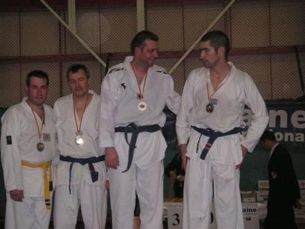 Le club de Taekwondo de Sarreguemines: le podium veterans