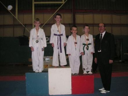 Le club de Taekwondo de Sarreguemines: le podium de la coupe sélective de Pompey
