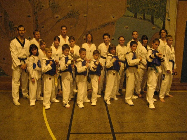Le club de Taekwondo de Sarreguemines: les participants au championnat de lorraine