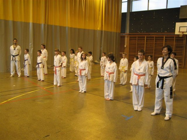 Le club de Taekwondo de Sarreguemines: passage de grades des enfants