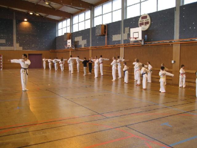 Le club de Taekwondo de Sarreguemines: les premiers entrainements