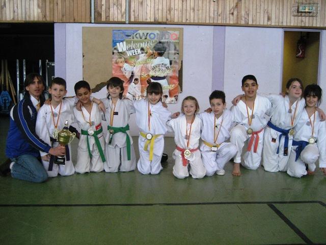Le club de Taekwondo de Sarreguemines: Le critérium du 19 mars 2011