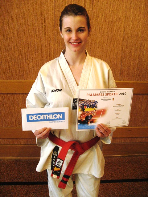 Le club de Taekwondo de Sarreguemines - Lorraine: Mise à l'honneur de Manon