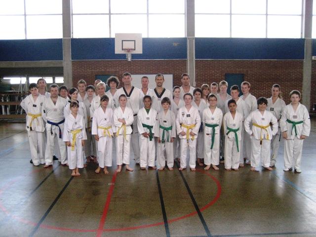 Le club de Taekwondo de Sarreguemines - Lorraine: Entrainement technique sous la direction de Jean-Michel HERTZOG