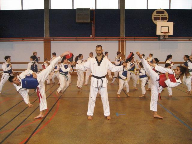 Le club de Taekwondo de Sarreguemines - Lorraine:  L'entrainement.