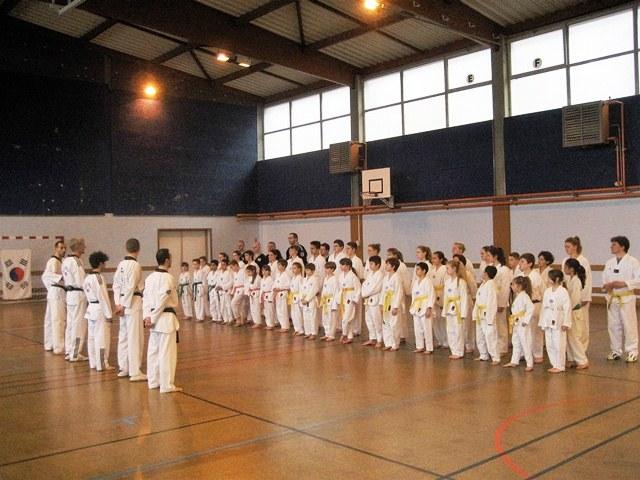 Le club de Taekwondo de Sarreguemines - Lorraine:  Passage de grades au club