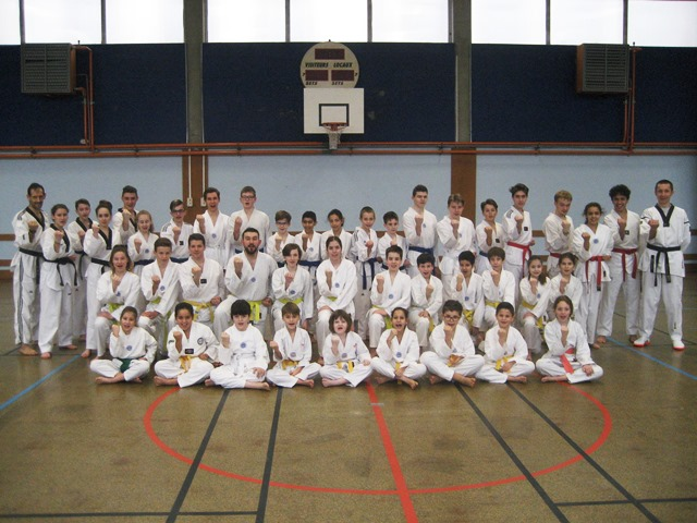 Le club de Taekwondo de Sarreguemines - Lorraine: Passage de grade au club
