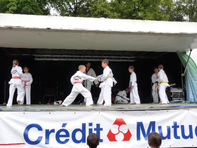 Le club de Taekwondo de Sarreguemines à la fête du sport