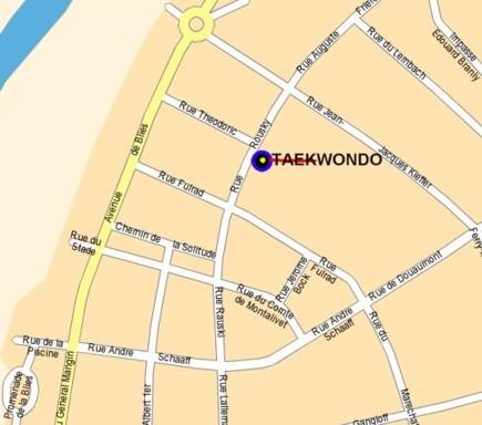 Le club de Taekwondo de Sarreguemines - Lorraine: Le plan d'accés