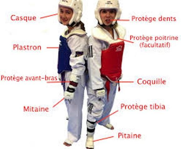 Le club de Taekwondo de Sarreguemines - Lorraine: les protections du Taekwondo.